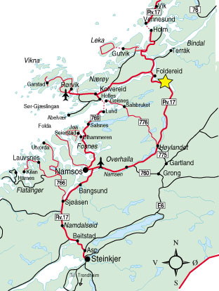 kart bindal Follakroa Turistsenter   Kart kart bindal